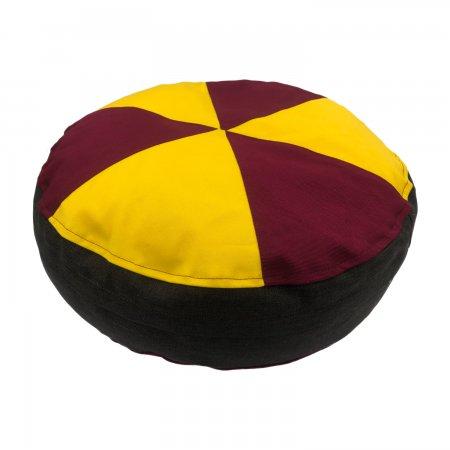 Bordó-Sárga ülőpárna, bútorszövet