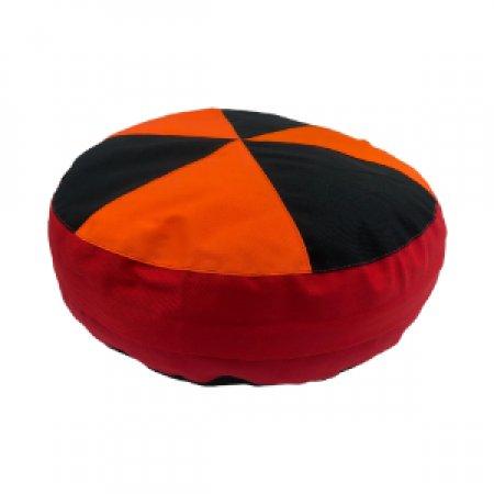 Fekete-narancs ülőpárna, bútorszövet