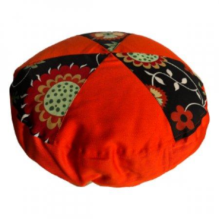 Narancs virágok babzsák ülőpárna, bútorszövet