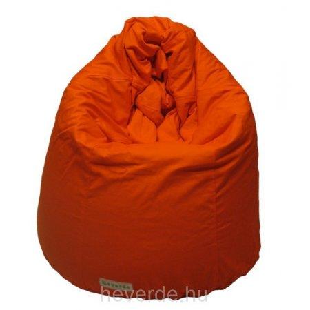 Körte formájú babzsákfotel kamaszoknak, narancssárga
