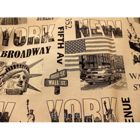 """Ülőpárna, """"New York"""" bézs bútorszövet"""