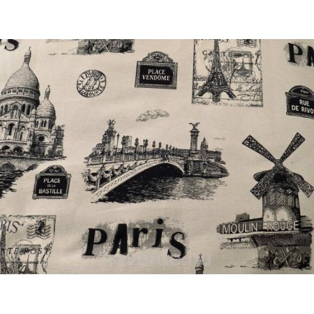 """""""Nagyfőnök"""" felnőtt babzsákfotel """"Párizsi emlék"""" mintával"""