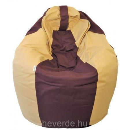 Csepp alakú nagy babzsákfotel, barna-bézs