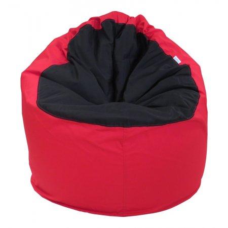 """""""Nagyfőnök"""" felnőtt babzsákfotel, piros-fekete színben"""