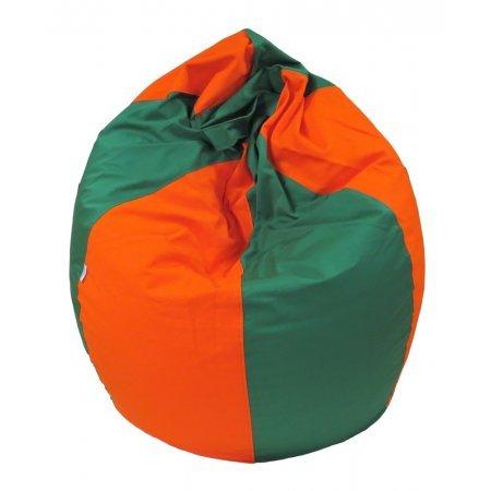 Csepp alakú nagy babzsákfotel, narancs-zöld