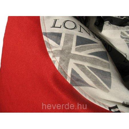 Londoni álom. Babzsákfotel felnőtteknek. Piros.