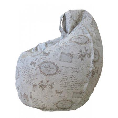 Csepp alakú nagy babzsákfotel, vintage mintás