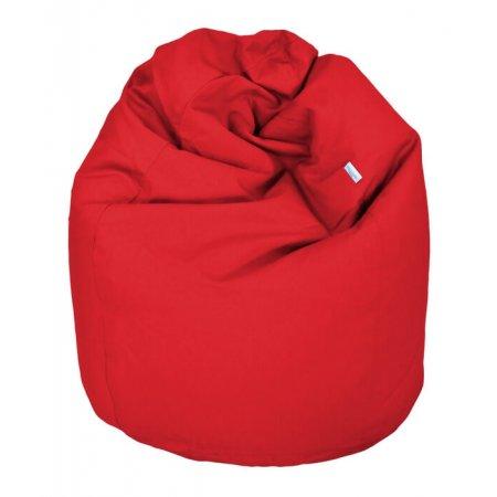 Klasszikus babzsákfotel gyerekeknek, piros