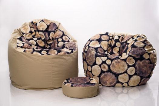 Fa mintás babzsákfotelek IKEA anyaggal